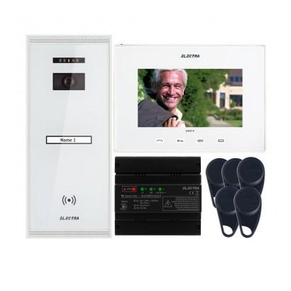 "ELECTRAVideointerfon Electra Smart+ 7"" pentru o familie montaj aparent - alb"