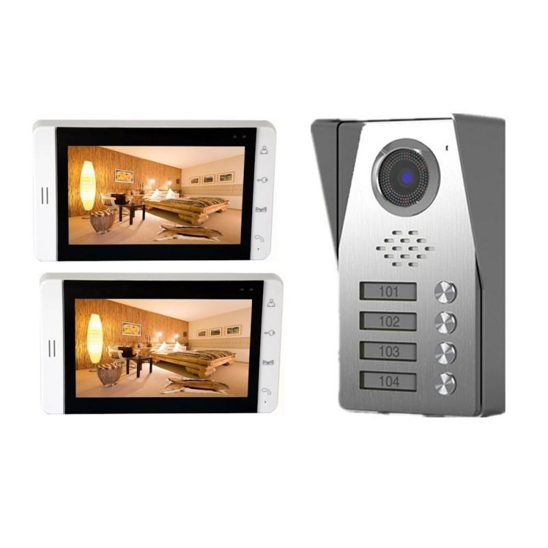 "Videointerfon color 7"" 2 familii Tongwei DP-705"