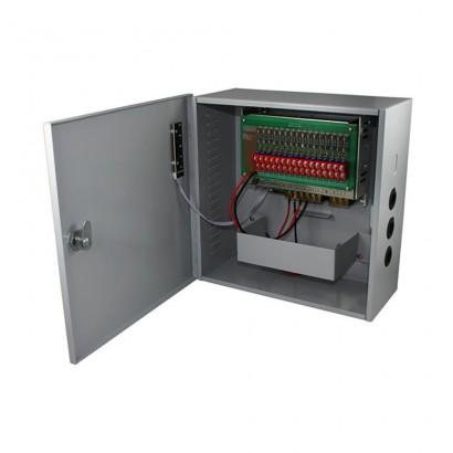 Strong Euro PowerSursa de alimentare CCTV 12V 10A 16 iesiri cu back-up STR1210-16CBD