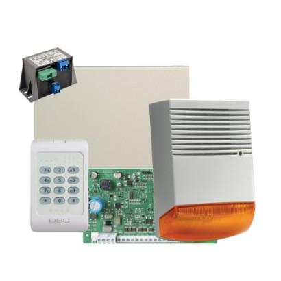 Kit alarma la efractie DSC cu sirena exterioara KIT1404BS