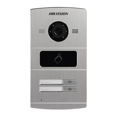Panou exterior videointerfon TCP/IP pentru 2 familii, control acces integrat - HIKVISION DS-KV8202-IM