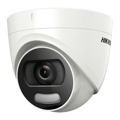 ColorVU - Camera AnalogHD 5MP, lentila 2.8mm, lumina alba 20 m - HIKVISION DS-2CE72HFT-F28