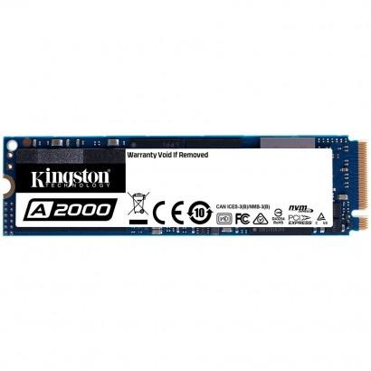 KINGSTON A2000 500G SSD, M.2 2280, NVMe, Read/Write: 2200 / 2000 MB/s, Random Read/Write IOPS 180K/200K
