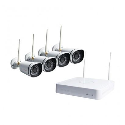 FoscamFoscam FN3104W-B4 Sistem Supraveghere IP Wireless 4 Camere HD 720P