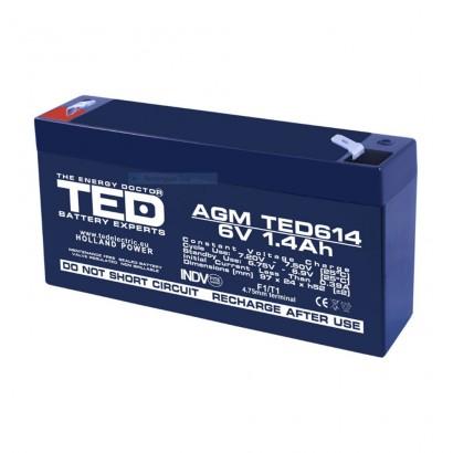 TEDBATERIE AGM TED614F1 6V 1.4Ah
