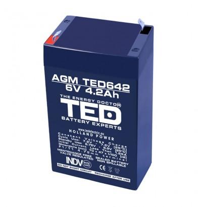 TEDBATERIE AGM TED642F1 6V 4.2Ah