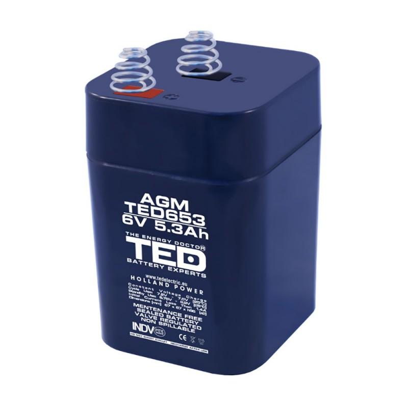 BATERIE AGM TED653 6V 5.3Ah