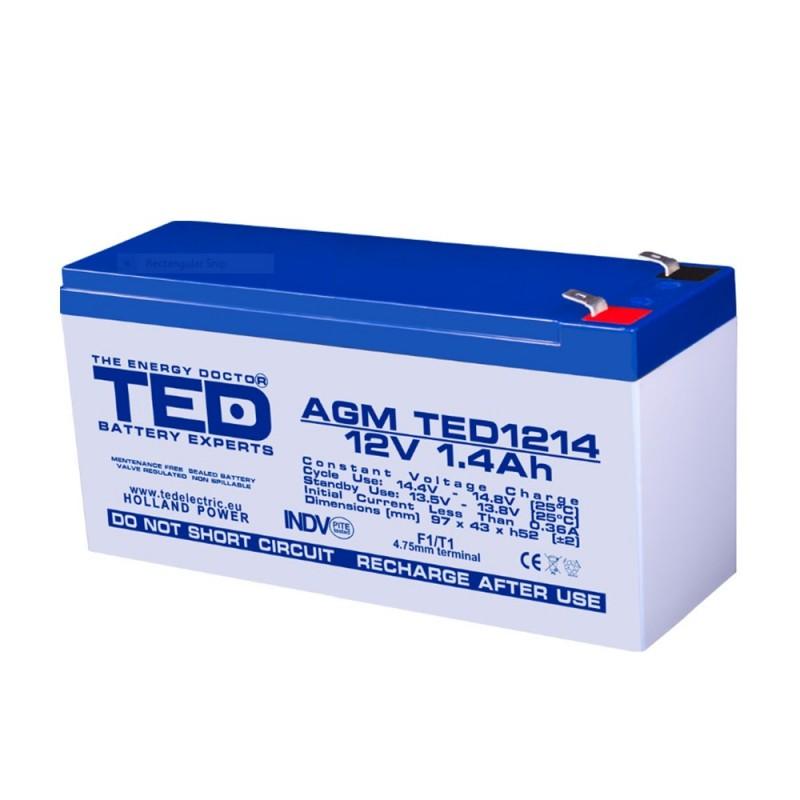 BATERIE AGM TED1214F1 12V 1.4Ah