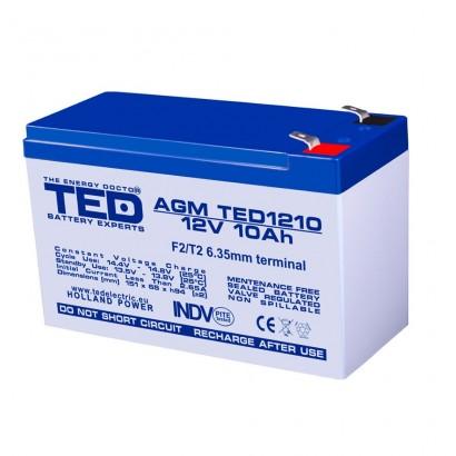 TEDBATERIE AGM TD1210F2 12V 10Ah F2