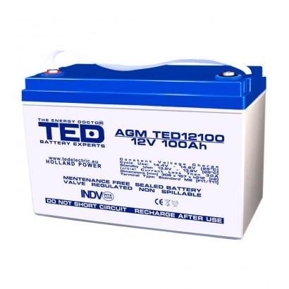 TEDBATERIE AGM TED12100M8 12V 100Ah