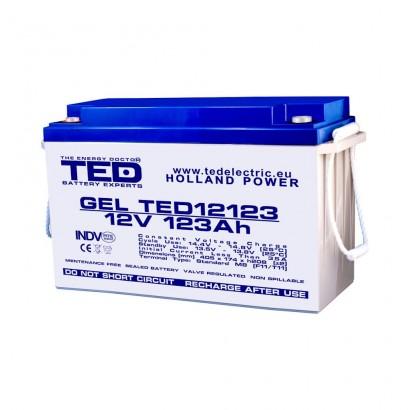 TEDBATERIE GEL TED12123M8 12V 123Ah