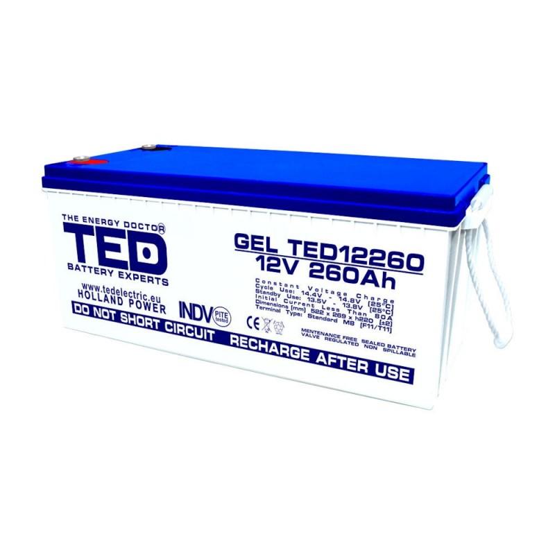 TEDBATERIE GEL TED12260M8 12V 260Ah