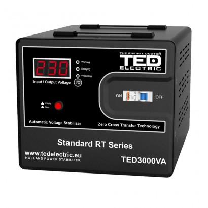 Stabilizatoare de tensiune STABILIZATOR DE TENSIUNE AVR 3000VA / 1800W TED