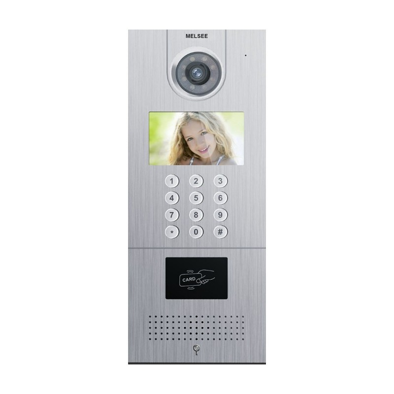 """POST EXTERIOR VIDEOINTERFON TCP/IP 4.3"""" COD ACCES MELSEE MS301C-ID"""