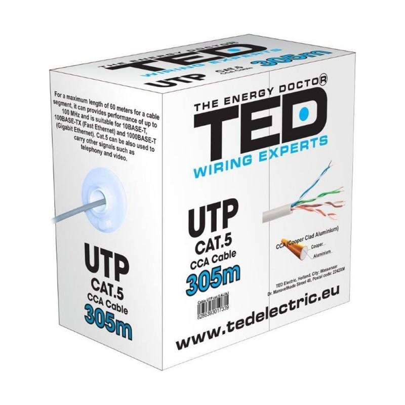 CABLU UTP CATEGORIA 5E 2 x 4 FIRE CCA TED DZ085417 TED ELECTRIC