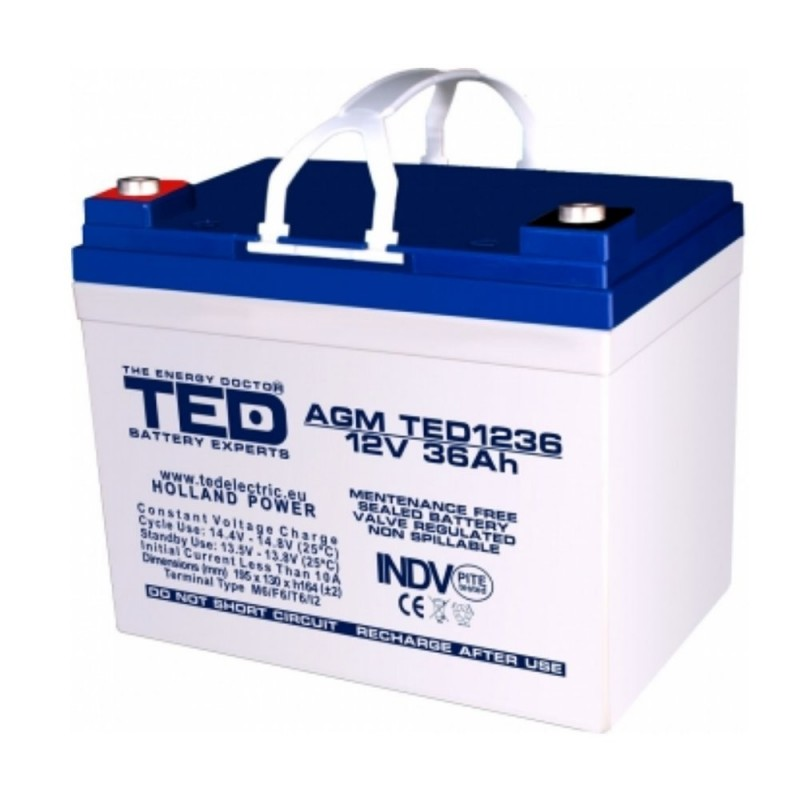 TEDBATERIE AGM TED1233M6 12V 33AH HIGH RATE