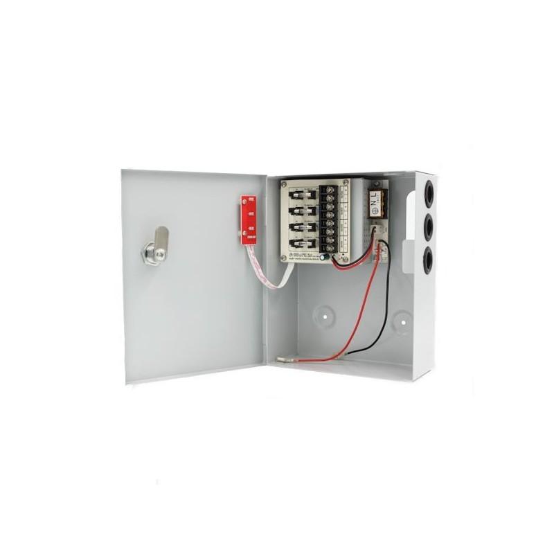 Sursa alimentare CCTV 12V 3A 4 iesiri cu backup STR1203-04CB