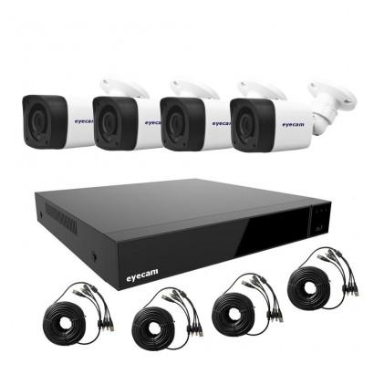 Sistem supraveghere video 1080N 4 camere Eyecam