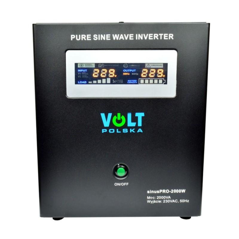 UPS centrale termice VOLT sinus PRO-2000W 2000VA 1400W Tensiune baterie 24V (2 x 12V)