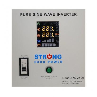 UPS centrale termice Strong Euro Power 2500VA 1800W Tensiune baterie 24V (2 x 12V)