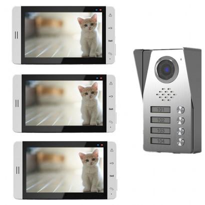 "Videointerfon color 7"" 3 familii Tongwei DP-705R"