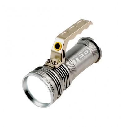 Lanterna metalica LED CREE T6 5W 2 acumulatori 18650