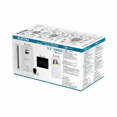 "ELECTRAVideointerfon Electra Smart+ 3.5"" pentru o familie montaj incastrat - alb"